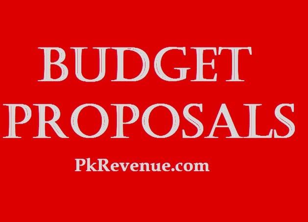 budget proposals